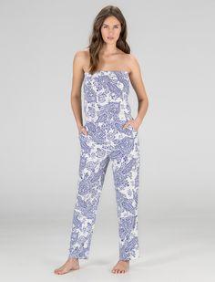 Womensecret. Beachwear Paisley long jumpsuit
