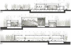 Segundo Lugar no Concurso Nacional de Anteprojetos para o Centro Cultural da Assembleia Legislativa de Neuquén / Argentina,Cortes