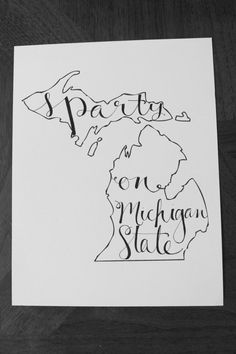 Michigan Sparty On MSU Print by LauraFrancesDesigns on Etsy, $15.00