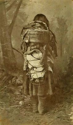 Apache mother and child. San Carlos Reservation, Arizona. 1886.
