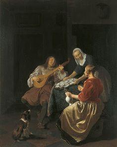 TICMUSart: Comiendo ostras - Jacob Lucasz (1665-69) (I. M.)