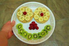 Que te parece este plato de #frutas con un toque divertido, jajaja....@entulínea #adelgazar disfrutando de la #comida.
