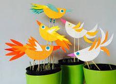 Výsledek obrázku pro tvoření s dětmi ohniště Origami, Art Activities, Birds, Dishes, Crafting, Origami Paper, Bird, Origami Art