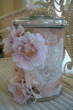 This is a Wedding Jar I designed. It goes in place of a guest book.