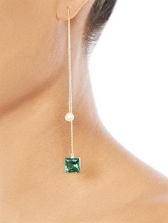 Delfina Delettrez topaz, pearl and gold single earring