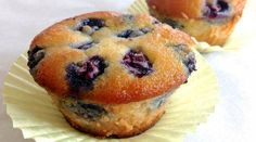 muffins com blueberries com farinha de amendoas