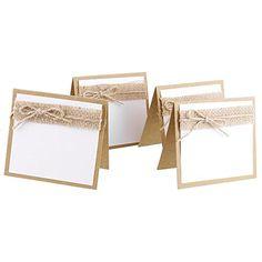 10pcs Marque Place Carte de Nom Décoration de Table Rustique pour Mariage