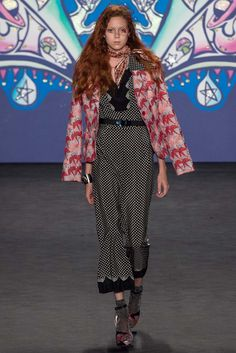 Anna Sui Spring 2015 Ready-to-Wear Fashion Show - Natalie Westling
