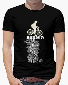 Camiseta ciclismo Cycling T Shirts, Bike Shirts, Cool Shirts, Casual Shirts, Mens Athletic Fashion, Best Quality T Shirts, Bike Quotes, Mens Fashion Sweaters, Create Custom T Shirts