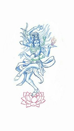 Nataraja: named himself after a God, and presents himself as God-like very strong magical ability, uncanny sensitivity to magic power feels too old for a human looks around but could be 300 Buddha Tattoos, Hindu Tattoos, God Tattoos, Body Art Tattoos, Symbol Tattoos, Sleeve Tattoos, Shiva Tattoo, Simbolos Tattoo, Lotus Tattoo