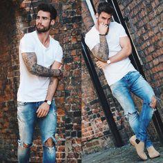 20 looks de inspiração para usar o jeans destroyed | ELH