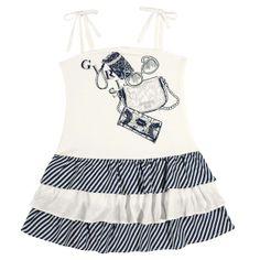 """Vestido ½ Malha de Alça Estampa """"BOLSAS"""" Tamanhos: 04 ao 12"""