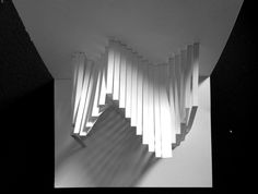 Paper Sculpture Design. Positive/Negative  Light/Shadow