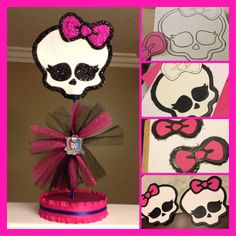 "Made some decorations for my little sister's ""Monster High"" themed birthday party."