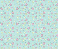 Fairy Stars fabric by lithe-fider on Spoonflower - custom fabric