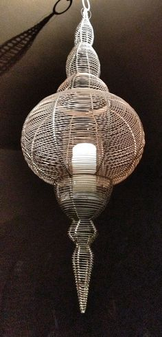 Iron wire lanterns (pcs 2)
