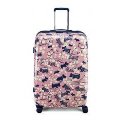 Radley Cherry Blossom Dog,Large Wheel Trolley Suitcase