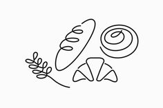 Erik Penser Bank Cookbook by Bedow, Sweden. design illustration Erik Penser Bank Cookbook by Bedow — BP&O Bakery Logo Design, Branding Design, Menu Design, Stationary Design, Corporate Branding, Logo Branding, Line Illustration, Grafik Design, Visual Identity