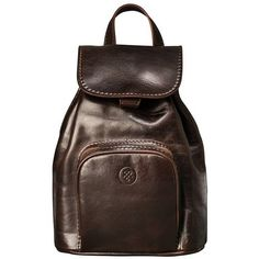 Maxwell Scott Bags - Luxury Italian Leather Ladies Small Rucksack... ($250) ❤ liked on Polyvore featuring bags, backpacks, leather backpack, brown leather rucksack, travel daypack, travel backpack and brown leather bag