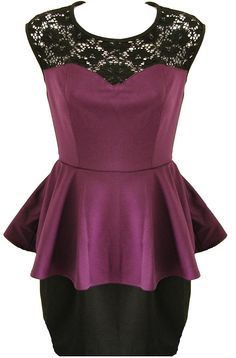 Lace Peplum Dress - available at www.RicketyRack.com!
