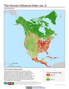 Human Influence Index - North America.