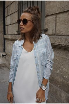 Camille / 16 juin in @ Magali Pascalnew in @ Magali Pascal Casual Outfits, Summer Outfits, Hair Shows, My Wardrobe, Hair Trends, Hair Goals, Short Hair Styles, Hair Makeup, Hair Cuts
