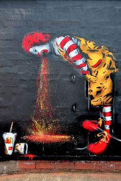 A great collection of amazing, creative and brilliant graffiti artworks. All pictures are worth seeing!Check out other posts with graffiti:Ukrainian Banksy pics)Fantastic Street Art pics) 3d Street Art, Street Art Graffiti, Graffiti Artwork, Amazing Street Art, Art Mural, Street Artists, Amazing Art, Banksy Graffiti, Amazing Drawings