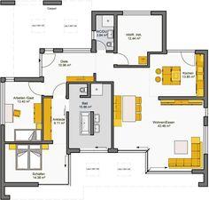 Architekten-Haus Fertighaus Finess Grundriss EG