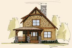 Settlers Forge I   Log Cabin House Plans   Rustic Home Designs