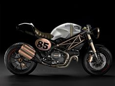 """motographite: DUCATI MONSTER 1100 """"EVO CLASSIC""""  Seat cover from Sport Classic 1000 fits on the monster"""