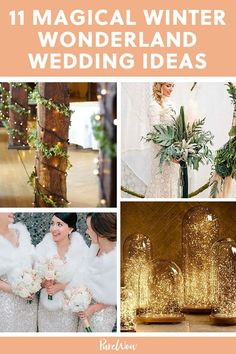 11 Winter Wonderland Wedding Ideas That Are Pure Magic  #purewow #planning #wedding #winter #trends