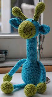 Knuffies: Giraffen, #Haken, gratis patroon, amigurumi, #crochet, free pattern (Dutch)