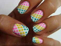 Candy Dots Nail Art