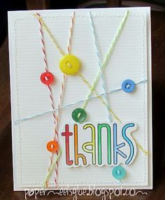 DIY Twine and Button Cards .