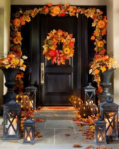 22 Best Decorating The Porch For Fall and Halloween - Deko Herbst Decoration Ikea, Decoration Bedroom, Decoration Party, Autumn Decorating, Porch Decorating, Decorating Ideas, Fall Home Decor, Autumn Home, Decoration Christmas