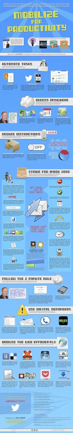 Tony Vincent's Learning in Hand - Blog - Mobilize for Productivity[Infographic]
