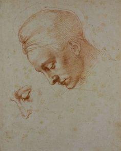 Michelangelo Buonarroti - Studi per la testa della 'Leda', ca. 1530