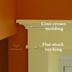 25 Astonishing Eksterior & Interior Window Trim Ideas for Your Dreamed House! Craftsman Style Doors, Door Installation, Door Casing, Cove Crown Molding, Craftsman Style Interiors, Craftsman Interior, Moldings And Trim, Interior Trim, House Trim