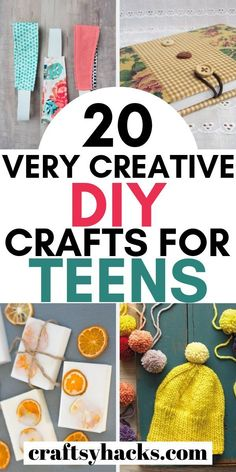 Try these diy crafts for teenagers and have fun crafting while on a very low budget. You can see these crafts and make money too! for teenagers 20 Creative DIY Crafts for Teens to Make Money Cool Gifts For Teens, Arts And Crafts For Teens, Art And Craft Videos, Easy Arts And Crafts, Crafts For Girls, Diy For Teens, Teen Gifts, Simple Crafts, Fun Teen Crafts