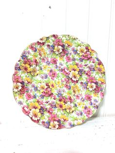 A personal favorite from my Etsy shop https://www.etsy.com/ca/listing/515735909/vintage-james-kent-du-barry-chintz-plate