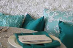 Search our variety of tablecloths, overlays, runners & napkins to cover the needs of any event. Browse our extensive inventory here on our Fabric Browser! Wholesale Linens, Linen Rentals, Teal, Throw Pillows, Yoga, Texture, Street, Cover, Creative