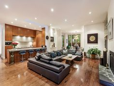 Photo of a living room idea from a real Australian house - Living Area photo 7602253 Australian Homes, Beautiful Living Rooms, Decorating Tips, Brighton, Living Area, Real Estate, Couch, Flooring, Bedroom