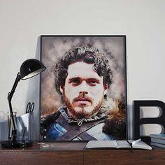 Robb Stark Game of Thrones Art Print Poster by BlackSailsUK