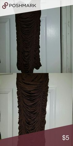 Brown strapless dress Brown strapless stretchy tight dress great for clubs Dresses Mini