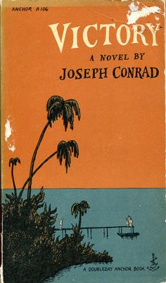 Victory by Joseph Conrad, Edward Gorey cover illustration published 1957