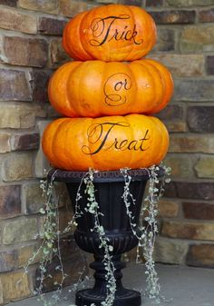 Use flower pots for fall