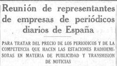 Los periódicos españoles preocupados por la competencia de un nuevo medio de comunicación (1934) pic.twitter.com/tmfHGSgQ1R