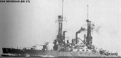 BB-27- USS Michigan WWI. - USS Michigan (BB 27) 4 Jan 1910 / 11 Feb 1922 Scrapped by the Philadelphia Naval Shipyard 1924 IAW Washington Treaty.