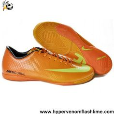 Latest Listing Discount Nike Mercurial Vapor IX IC CR9 Victory IV IC Indoor Boots Orange Yellow Shoes Store