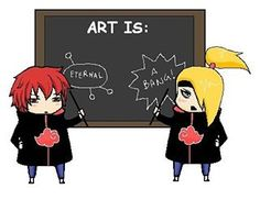 Find images and videos about naruto, deidara and sasori on We Heart It - the app to get lost in what you love. Sasori And Deidara, Deidara Akatsuki, Shikamaru, Gaara, Boruto, Naruto Shippuden Characters, Naruto Shippuden Anime, Naruto Shuppuden, Tobi Obito